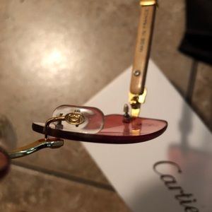 Cartier Rimless Red Tinted shades